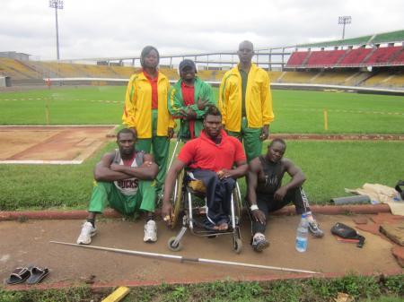 Quelques internationaux Handicapés physiques et leurs encadreurs