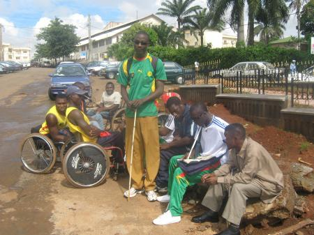 Quelques sportifs camerounais. International disabled sportsmen.