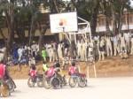 finale,coupe du Cameroun, Ngaoundéré, basket-ball sur fauteuils roulants,personne handicapée,socialisation,insertion socio économique,intégration,société, sport adapté, exhibition, arbitres,région